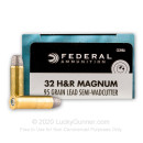 Cheap 32 H&R Magnum Ammo For Sale - 95 Grain LSWC Ammunition in Stock by Federal Champion - 20 Rounds