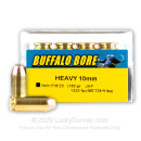 Cheap 10mm Ammo For Sale - 180 Grain JHP Ammunition in Stock by Buffalo Bore - 20 Rounds
