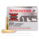 Cheap 22 Hornet Ammo For Sale - 46 Grain JHP Ammunition in Stock by Winchester - 50 Rounds