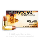 Premium 9mm Ammo For Sale - 90 Grain Frangible Ammunition in Stock by PolyFrang - 50 Rounds