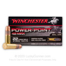 Premium 22 LR Ammo For Sale - 42 gr CPHP - Winchester Power Point Ammo - 500 Rounds