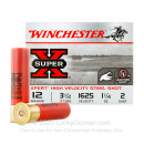 "12 Gauge Waterfowl Ammo - Winchester Super-X 3-1/2""  1-1/4 oz #2 Steel Shot - 25 Rounds"