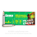 Premium 204 Ruger Ammo For Sale - 36 Grain BlitzKing Ammunition in Stock by Sierra Prairie Enemy - 20 Rounds