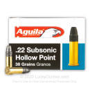 Cheap 22 LR Ammo For Sale - 38 gr - Aguila Super Extra Subsonic Ammunition Online - 50 Rounds