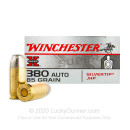 380 Auto Defense Ammo In Stock - 85 gr JHP - 380 ACP Ammunition by Winchester Silvertip Super X For Sale - 50 Rounds