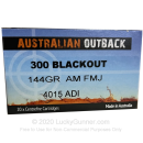 Premium 300 AAC Blackout Ammo For Sale - 144 Grain FMJ Ammunition in Stock by Australian Outback - 20 Rounds