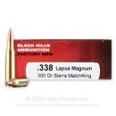 Premium 338 Lapua Ammo For Sale - 300 Grain HPBT Ammunition in Stock by Black Hills Ammunition - 20 Rounds