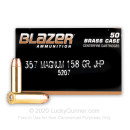 357 Magnum Ammo For Sale - 158 gr JHP Blazer Brass Ammo In Stock - 50 Rounds