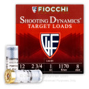 "Cheap 12 Gauge Ammo For Sale - 2-3/4"" #8 Ammunition in Stock by Fiocchi Shooting Dynamics - 250 Rounds"