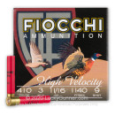 "Cheap 410 Bore Ammo For Sale - 3"" 11/16oz. #9 Shot Ammunition in Stock by Fiocchi - 25 Rounds"