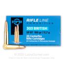 303 British Ammo For Sale - 180 gr SPBT Ammunition In Stock by Prvi Partizan