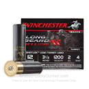 """Premium 12 Gauge Ammo For Sale - 3-1/2"""" 2oz. #4 Shot Ammunition in Stock by Winchester Long Beard XR - 10 Rounds"""