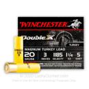 "Premium 20 Gauge Ammo - 3"" Lead Double X Turkey Loads - 1-1/4 oz - #5 - Winchester - 10 Rounds"