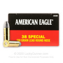 38 Special - 158 gr LRN - Federal American Eagle - 50 Rounds