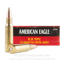 6.8mm SPC Ammo - Federal American Eagle 115 Grain FMJ - 20 Rounds
