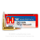 Cheap 243 Win Ammo In Stock  - 100 gr Hornady American Whitetail SP Interlock Ammunition For Sale Online - 20 Rounds