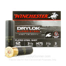 "Premium 12 Gauge Ammo For Sale - 3-1/2"" 1-1/2 oz. #3 Steel Shot Ammunition in Stock by Winchester Drylok Super Steel - 25 Rounds"