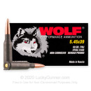 Bulk 5.45x39 Ammo For Sale - 60 Grain FMJ Ammunition in Stock by Wolf - 1000 Rounds