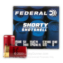 "Premium 12 Gauge Ammo For Sale - 1-3/4"" 15/16oz. #8 Shot Ammunition in Stock by Federal Shorty Shotshell - 10 Rounds"