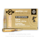 Cheap 50 BMG Ammo For Sale - 725 Grain Solid Copper Ammunition in Stock by Prvi Partizan - 5 Rounds