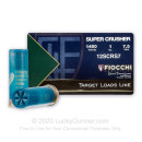 """Cheap12 Gauge Ammo For Sale - 2-3/4"""" 1 oz. #7-1/2 Shot Target Ammunition in Stock by Fiocchi SUPER CRUSHER - 25 Rounds"""