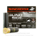 """Premium 12 Gauge Ammo For Sale - 3-1/2"""" 1-5/8oz. #1 Hex steel shot Ammunition in Stock by Winchester Blind Side - 25 Rounds"""