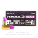 Premium 9mm Ammo For Sale - 124 Grain Total Synthetic Jacket FN Ammunition in Stock by Federal Syntech Training Match - 500 Rounds