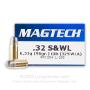 32 S&W Long Ammo For Sale - 98 gr LRN Magtech 32 S&W Long Ammunition For Sale - 50 Rounds