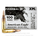 Cheap 5.56x45 Ammo For Sale - 55 Grain FMJBT XM193 Ammunition in Stock by Federal American Eagle - 100 Rounds