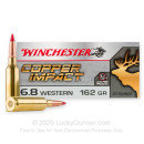 Premium 6.8 Western Ammo For Sale - 162 Grain Extreme Point Ammunition in Stock by Winchester Copper Impact - 20 Rounds