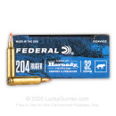 Premium 204 Ruger Ammo For Sale - 32 Grain V-MAX Ammunition in Stock by Federal Varmint & Predator - 20 Rounds