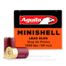 "Cheap 12 Gauge Ammo For Sale - 1-3/4"" 7/8 oz. Slug Ammunition in Stock by Aguila Minishell - 20 Rounds"