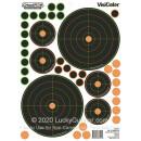 "VisiColor Adhesive 50 Yard Sight-In Bullseye Targets For Sale - 5 - 11.5"" x 8.5"" Targets - Champion Targets For Sale"