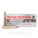 Premium 300 Winchester Magnum Ammo For Sale - 150 Grain HP Ammunition in Stock by Winchester Super-X Power Core 95/5 - 20 Rounds