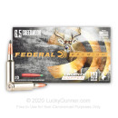 Premium 6.5 Creedmoor Ammo For Sale - 120 Grain Trophy Copper Ammunition in Stock by Federal - 20 Rounds