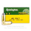 Premium 45 Long Colt Ammo For Sale - 225 Grain LSWC Ammunition in Stock by Remington Performance WheelGun - 50 Rounds