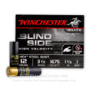 "Premium 12 Gauge Waterfowl Ammo - Winchester Blindside 3-1/2""  1-3/8 oz #1 Hex Steel Shot - 25 Rounds"