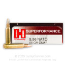 Premium 5.56x45 Ammo For Sale - 55 Grain GMX Ammunition in Stock by Hornady Superformance - 20 Rounds