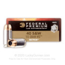 Premium defensive 40 S&W Ammo For Sale - 155 gr HST JHP  - Federal LE Tactical Ammunition In Stock - 50 Rounds