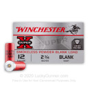 "Cheap 12 Gauge Ammo For Sale - 2-3/4"" Blanks Ammunition in Stock by Winchester Super-X - 25 Rounds"