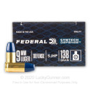 Premium 9mm Ammo For Sale - 138 Grain SHP Ammunition in Stock by Federal Syntech Defense - 20 Rounds