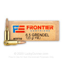 Cheap 6.5 Grendel Ammo For Sale - 123 Grain FMJ Ammunition in Stock by Hornady Frontier - 200 Rounds