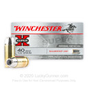 Cheap 40 S&W Ammo For Sale - 155 Grain Silvertip JHP Ammunition in Stock by Winchester - 50 Rounds