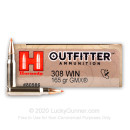 Premium 308 Ammo For Sale - 165 Grain GMX Ammunition in Stock by Hornady Outfitter - 20 Rounds