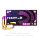 Premium 40 S&W Ammo For Sale - 180 Grain Total Synthetic Jacket FN Ammunition in Stock by Federal Syntech Training Match - 50 Rounds