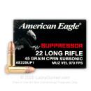 Cheap 22 LR - 45 gr CPRN - Suppressor - Federal American Eagle - 50 Rounds