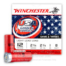 "Cheap 12 Gauge Ammo For Sale - 2-3/4"" 1oz. #8 Shot Ammunition in Stock by Winchester USA Game & Target - 25 Rounds"