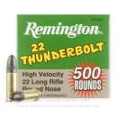 22 LR Ammo For Sale - 40 gr LRN - Remington Thunderbolt Ammunition In Stock - 500 Rounds