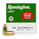 45 ACP Ammo For Sale - 230 gr JHP - Remington UMC Ammunition In Stock - 600 Rounds