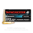 Premium 223 Rem Ammo For Sale - 64 Grain Power Point Ammunition in Stock by Winchester Ranger - 200 Rounds